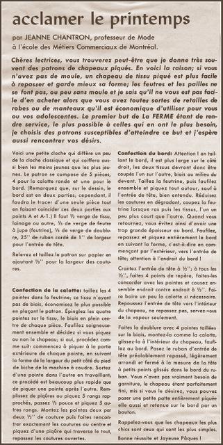 Jeanne Chantron texte